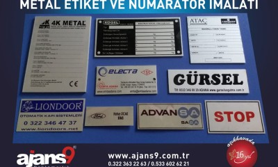 Metal etiket ve numaratör imalatı